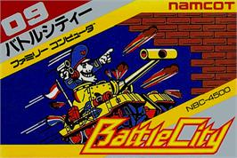 Box cover for Battle City on the Nintendo NES.