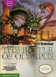 Box cover for Battle of Olympus on the Nintendo NES.