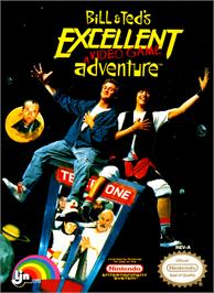 Box cover for Bill & Ted's Excellent Adventure on the Nintendo NES.