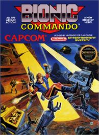 Box cover for Bionic Commando on the Nintendo NES.