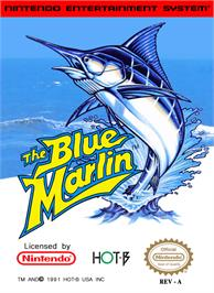 Box cover for Blue Marlin on the Nintendo NES.