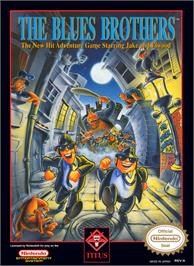 Box cover for Blues Brothers on the Nintendo NES.