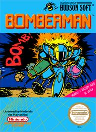 Box cover for Bomberman on the Nintendo NES.