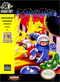 Box cover for Bomberman 2 on the Nintendo NES.