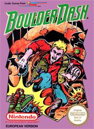 Box cover for Boulder Dash on the Nintendo NES.