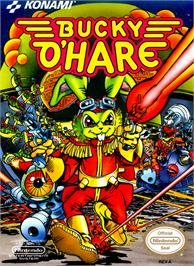 Box cover for Bucky O'Hare on the Nintendo NES.