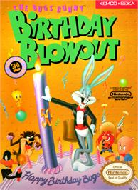 Box cover for Bugs Bunny Birthday Blowout on the Nintendo NES.