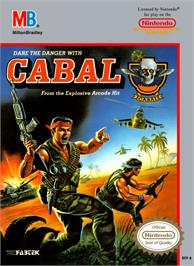 Box cover for Cabal on the Nintendo NES.