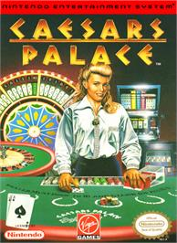 Box cover for Caesar's Palace on the Nintendo NES.