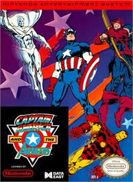 Box cover for Captain America and The Avengers on the Nintendo NES.