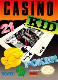 Box cover for Casino Kid on the Nintendo NES.