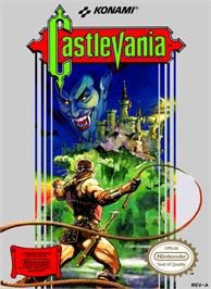 Box cover for Castlevania on the Nintendo NES.