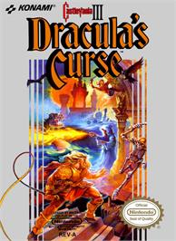 Box cover for Castlevania III: Dracula's Curse on the Nintendo NES.
