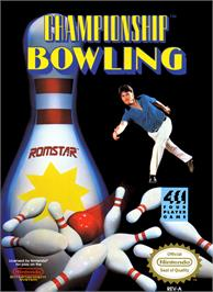 Box cover for Championship Bowling on the Nintendo NES.