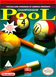 Box cover for Championship Pool on the Nintendo NES.