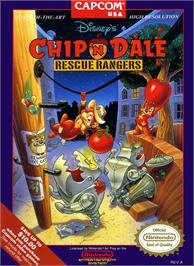 Box cover for Chip'n Dale: Rescue Rangers on the Nintendo NES.