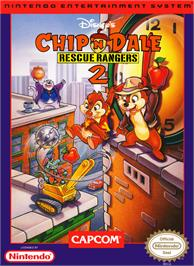 Box cover for Chip 'N Dale Rescue Rangers 2 on the Nintendo NES.