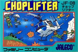 Box cover for Choplifter on the Nintendo NES.