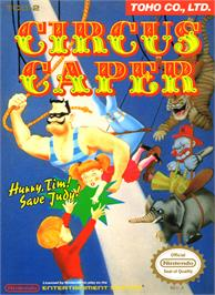 Box cover for Circus Caper on the Nintendo NES.