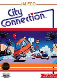 Box cover for City Connection on the Nintendo NES.