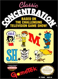 Box cover for Classic Concentration on the Nintendo NES.