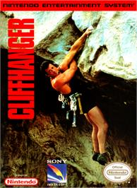 Box cover for Cliffhanger on the Nintendo NES.