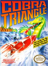 Box cover for Cobra Triangle on the Nintendo NES.