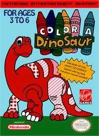 Box cover for Color a Dinosaur on the Nintendo NES.