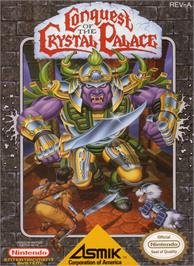 Box cover for Conquest of the Crystal Palace on the Nintendo NES.