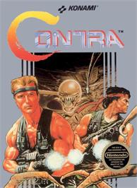 Box cover for Contra on the Nintendo NES.