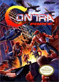 Box cover for Contra Force on the Nintendo NES.