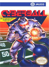 Box cover for Cyberball on the Nintendo NES.