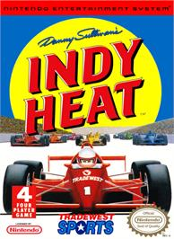 Box cover for Danny Sullivan's Indy Heat on the Nintendo NES.