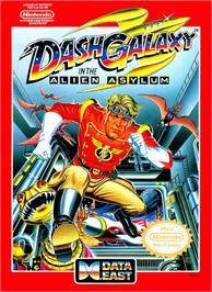 Box cover for Dash Galaxy in the Alien Asylum on the Nintendo NES.