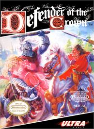 Box cover for Defender of the Crown on the Nintendo NES.