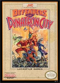 Box cover for Defenders of Dynatron City on the Nintendo NES.