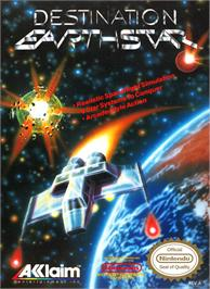 Box cover for Destination Earthstar on the Nintendo NES.