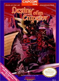 Box cover for Destiny of an Emperor on the Nintendo NES.