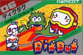 Box cover for Dig Dug on the Nintendo NES.