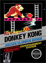 Box cover for Donkey Kong on the Nintendo NES.