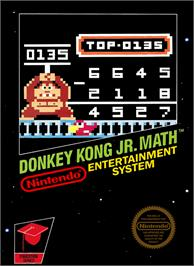 Box cover for Donkey Kong Junior Math on the Nintendo NES.