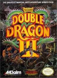 Box cover for Double Dragon 3 - The Rosetta Stone on the Nintendo NES.