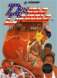 Box cover for Double Dribble on the Nintendo NES.
