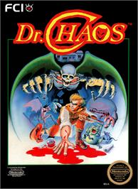 Box cover for Dr. Chaos on the Nintendo NES.