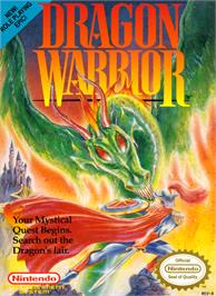 Box cover for Dragon Warrior on the Nintendo NES.