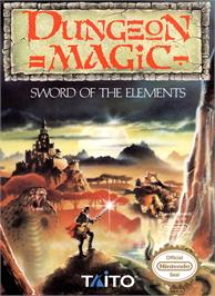 Box cover for Dungeon Magic: Sword of the Elements on the Nintendo NES.