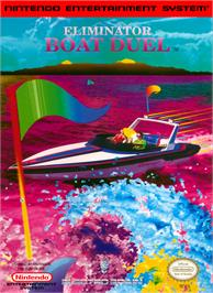Box cover for Eliminator Boat Duel on the Nintendo NES.