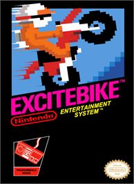 Box cover for Excite Bike on the Nintendo NES.