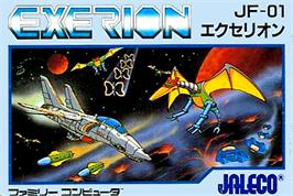 Box cover for Exerion on the Nintendo NES.