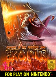 Box cover for Exodus: Journey to the Promised Land on the Nintendo NES.